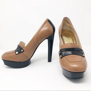 Michael Kors | Penny Loafer platform heels | 7.5